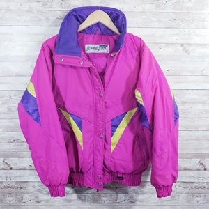 Vintage Downhill Racer Ski Snow Parka Jacket